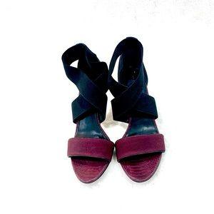 Franco Sarto  burgundy heeled sandals Size 8